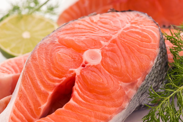 Salmon and other cold water fish like tuna are rich in Omega 3 oil