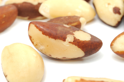 selenium benefits, the highest concentrations of selenium are found in meat, seafood and whole grain cereals  -here Brazil nuts