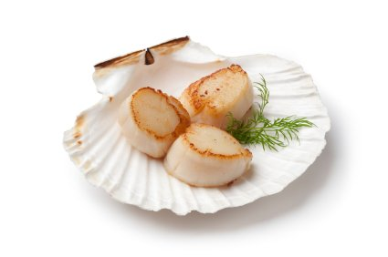 selenium benefits, the highest concentrations of selenium are found in meat, seafood and whole grain cereals - here scallops